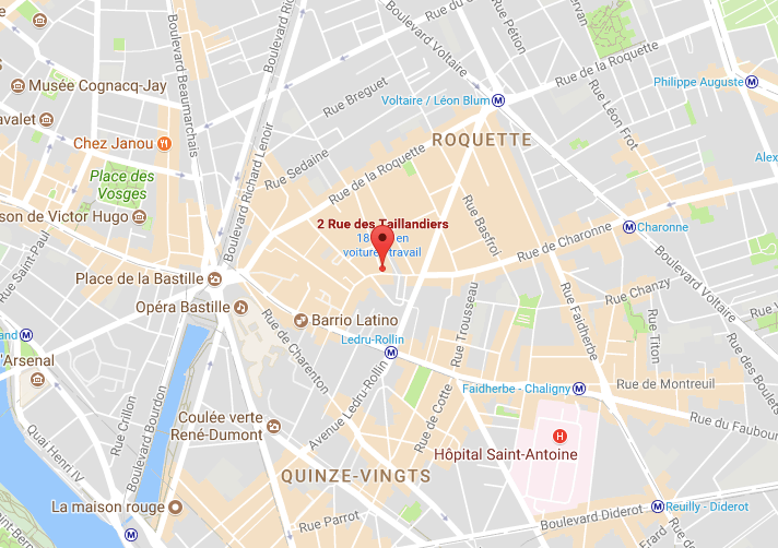 Map mobile : 2 rue Taillandiers, Paris